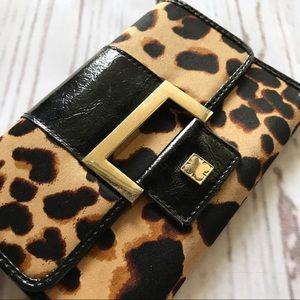 Liz Claiborne Leopard Vintage Wallet